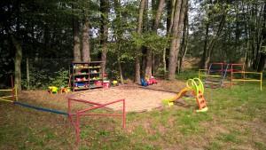 Campingplatzgelände - großer Sandkasten